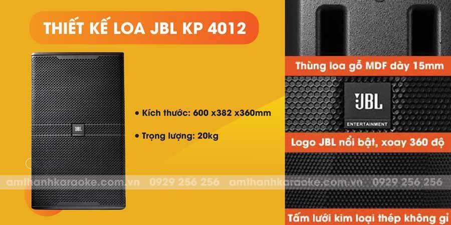 Thiết kế loa JBL KP-4012