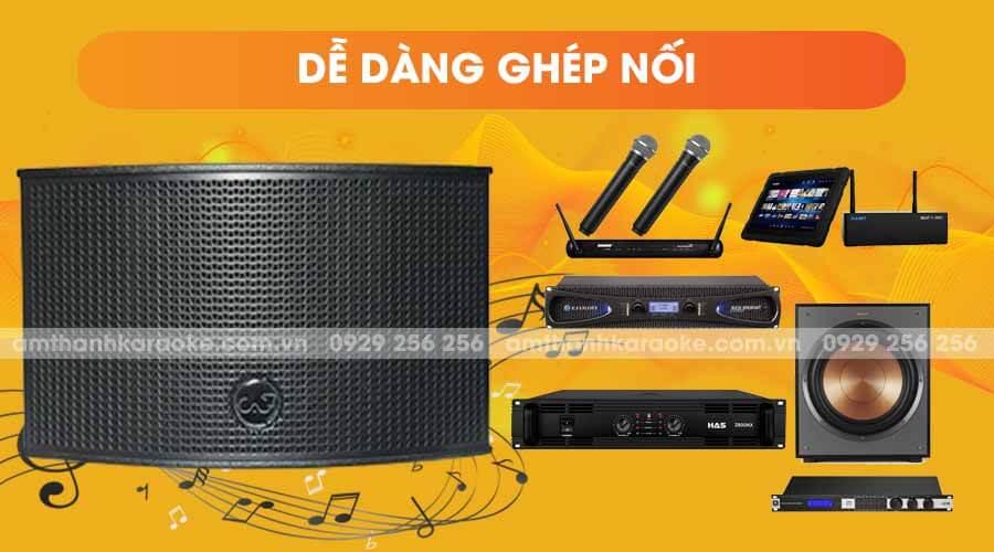 Loa CAF TV-550 dễ dàng ghép nối