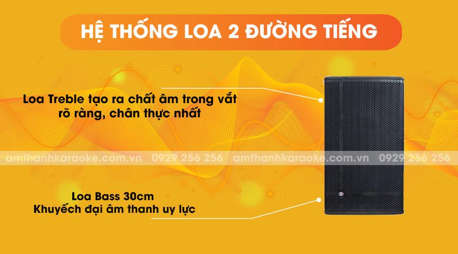 Loa Louis Martin Kone 12 là hệ thống loa 2 đường tiếng