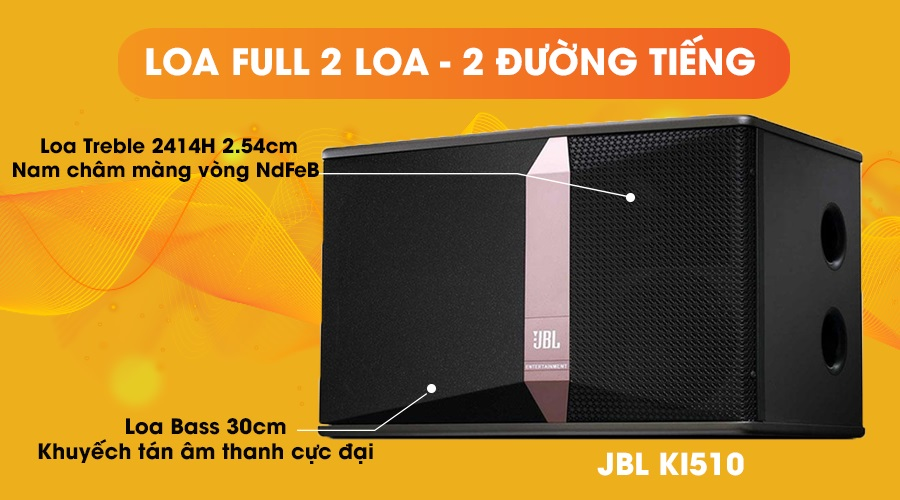 Loa JBL KI-510 full 2 loa 2 đường tiếng