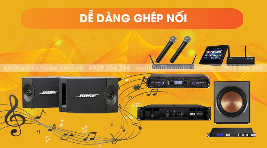 Loa Bose 201 series V dễ dàng ghép nối