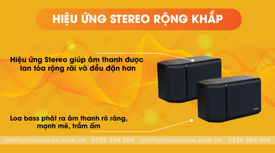 Loa Bose 201 Series IV có hiệu ứng Stereo rộng khắp