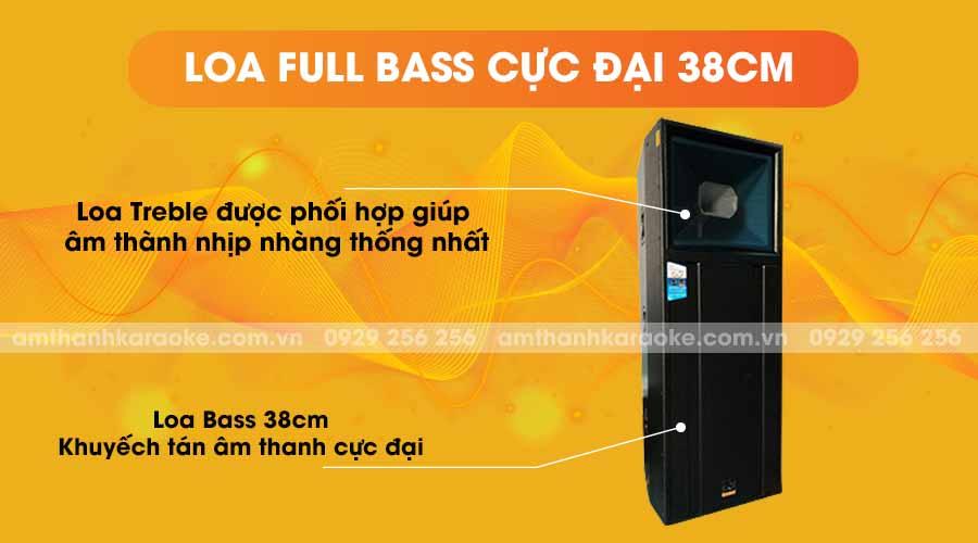Loa CAF 215 King full bass cực đại 38cm