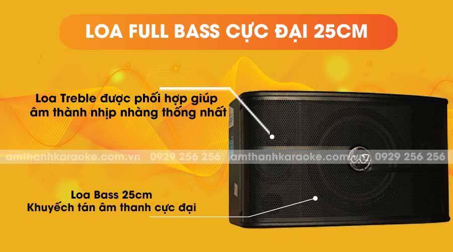 Loa CAF 450 Pro full bass cực đại 25cm