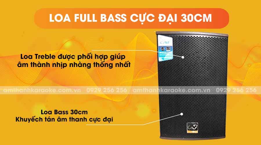 Loa CAF CA-110H full bass cực đại 30cm