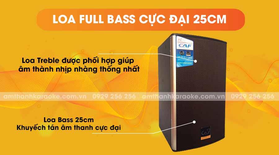 Loa CAF CA-100 Pro full bass cực đại 25cm