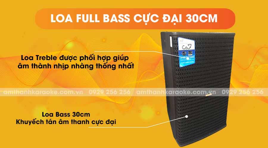Loa CAF CA-12 Pro full bass cực đại 30cm