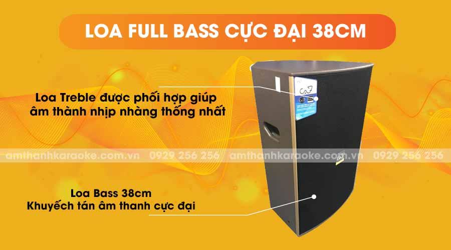 Loa CAF HS-15 Pro full bass cực đại 38cm