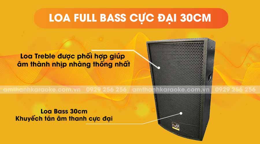 Loa CAF HT-12 Pro full bass cực đại 30cm