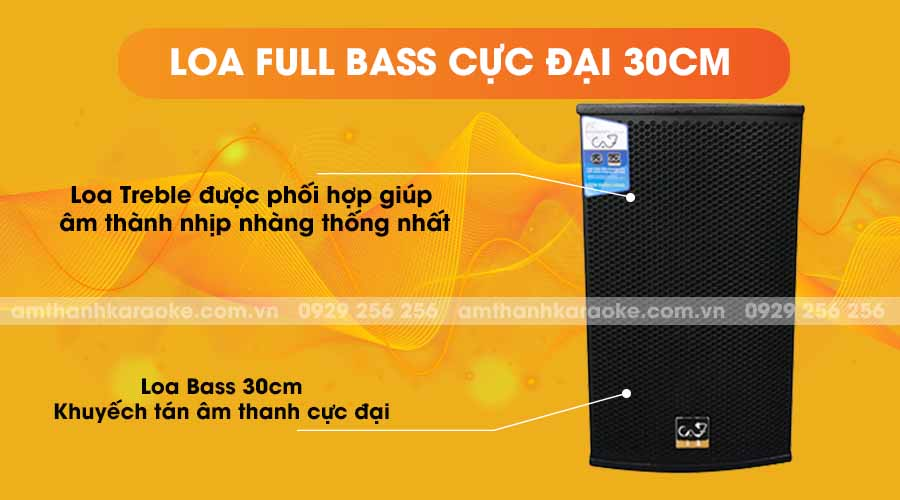 Loa CAF K12 Pro full bass cực đại 30cm
