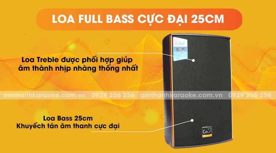 Loa CAF KTV-10 Pro full bass cực đại 25cm