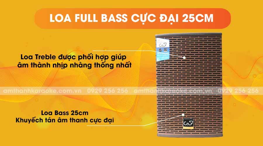Loa CAF KTV-110 Pro new 2019 full bass cực đại 25cm