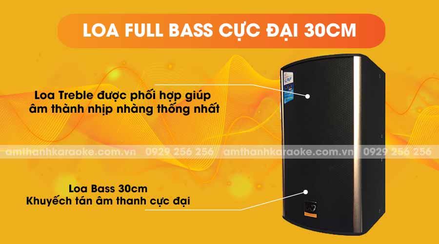 Loa CAF KTV-12 full bass cực đại 30cm