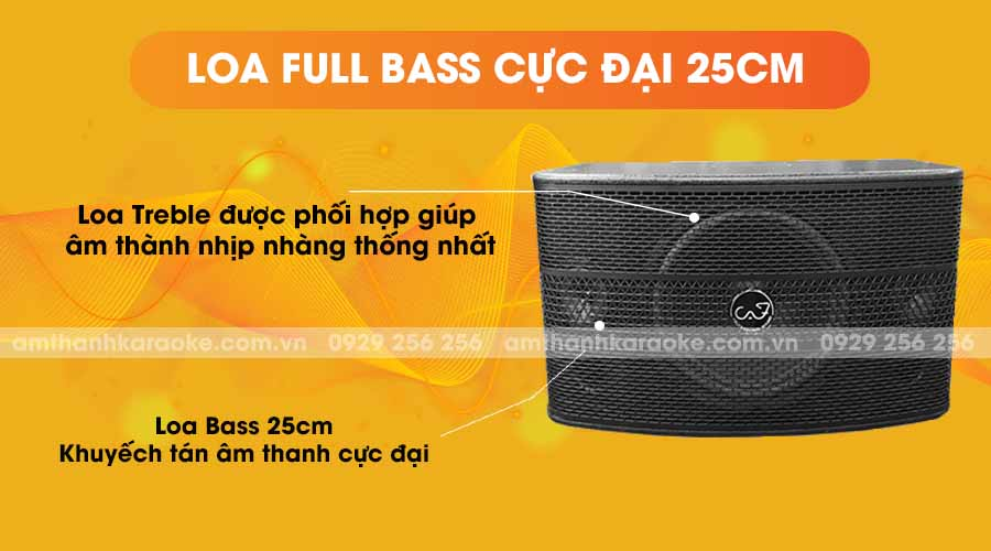 Loa CAF SF-550 Pro full bass cực đại 25cm