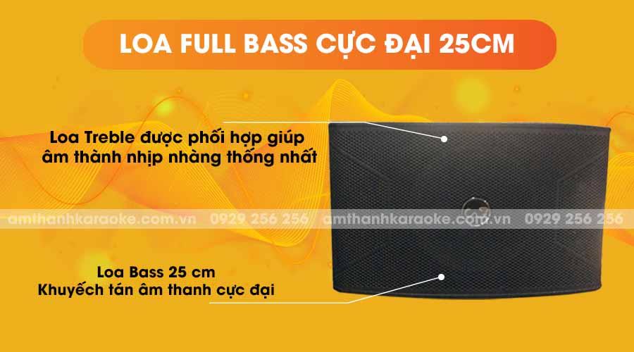 Loa CAF SF-600 Pro full bass cực đại 25cm