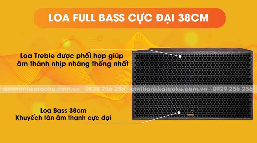Loa CAF SK-215S full bass cực đại 38cm