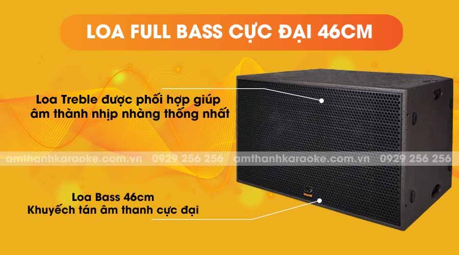 Loa CAF SK-218S full bass cực đại 46cm