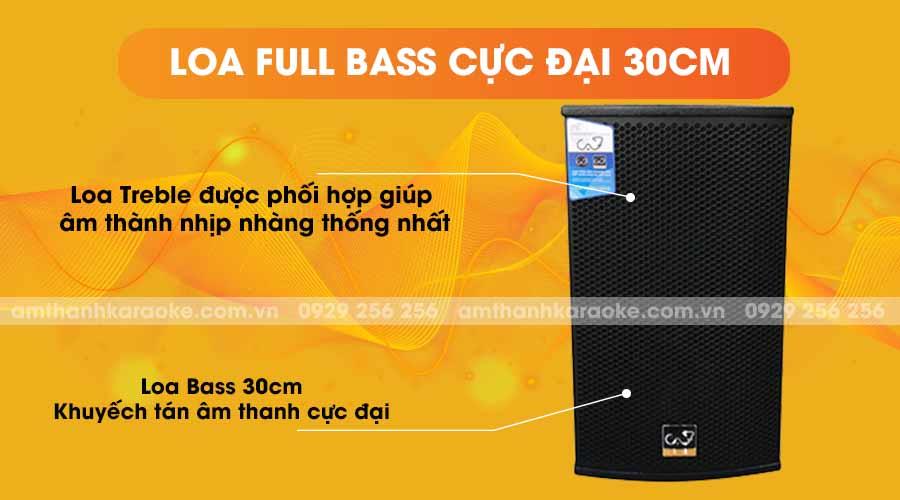 Loa CAF T12 Pro full bass cực đại 30cm