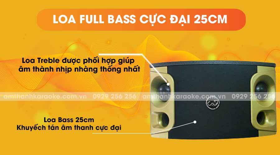 Loa CAF TV-10G full bass cực đại 25cm