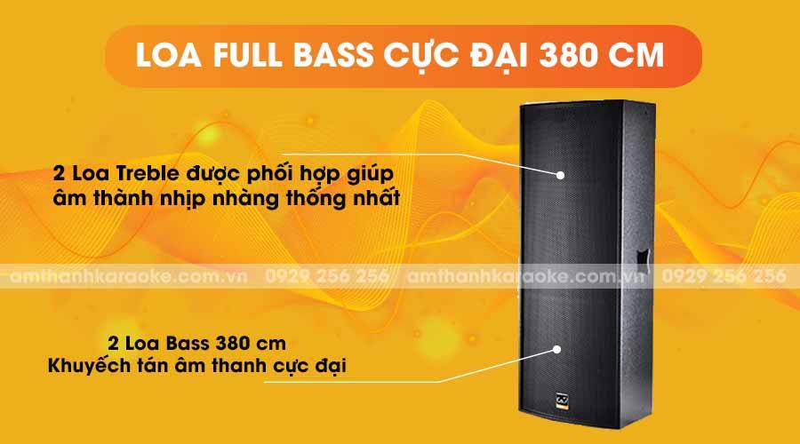 Loa CAF TV-215 full bass cực đại 380cm