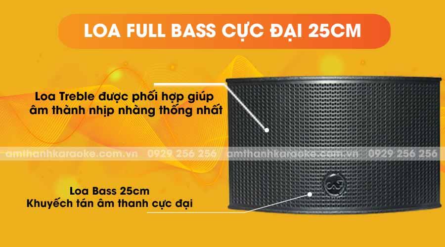 Loa CAF TV-550 full bass cực đại 25cm