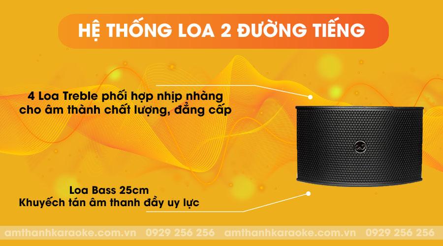 Loa CAF TV-550 Plus - hệ thống loa 2 đường tiếng