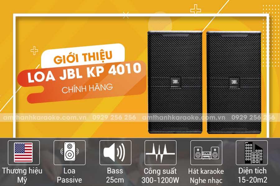 Giới thiệu loa JBL KP-4010 chính hãng