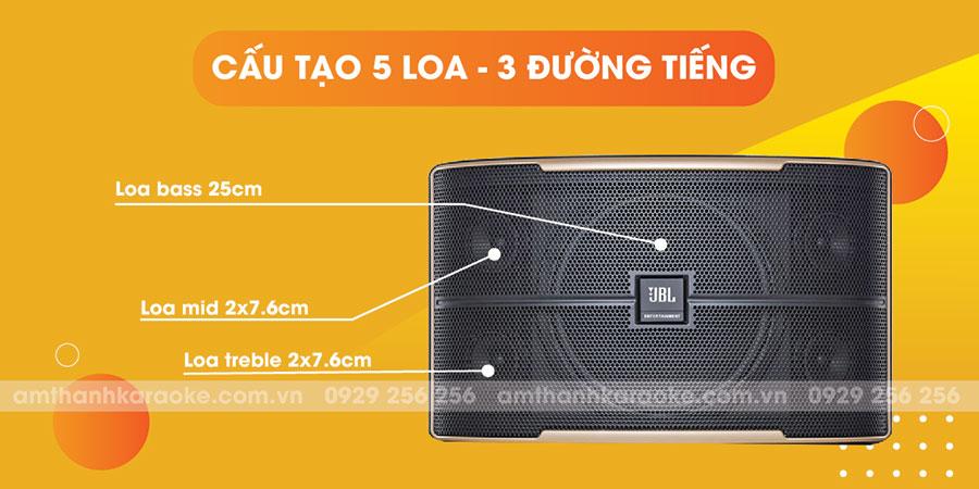 Loa JBL Pasion 10 có cấu tạo 5 loa 3 đường tiếng