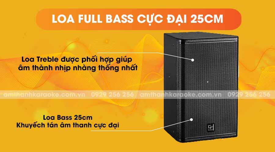 Loa CF Audio TQ10 full bass cực đại 25cm