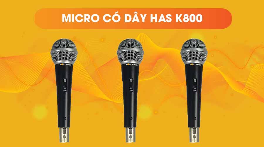 Thiết kế của micro có dây HAS K800