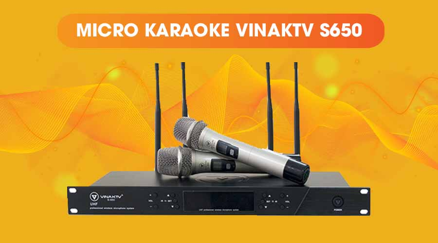 Bộ micro không dây VinaKTV S650