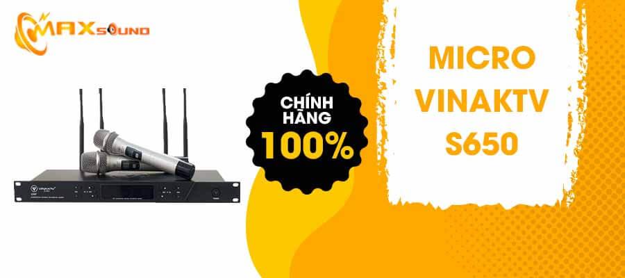 Micro VinaKTV S650 chính hãng
