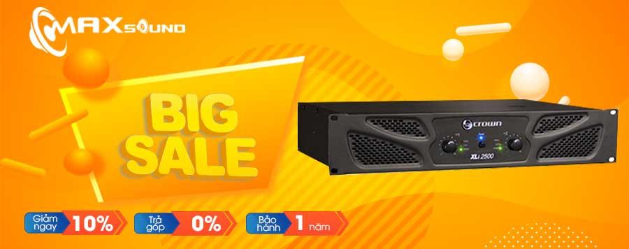 Banner big sale tại Max Sound
