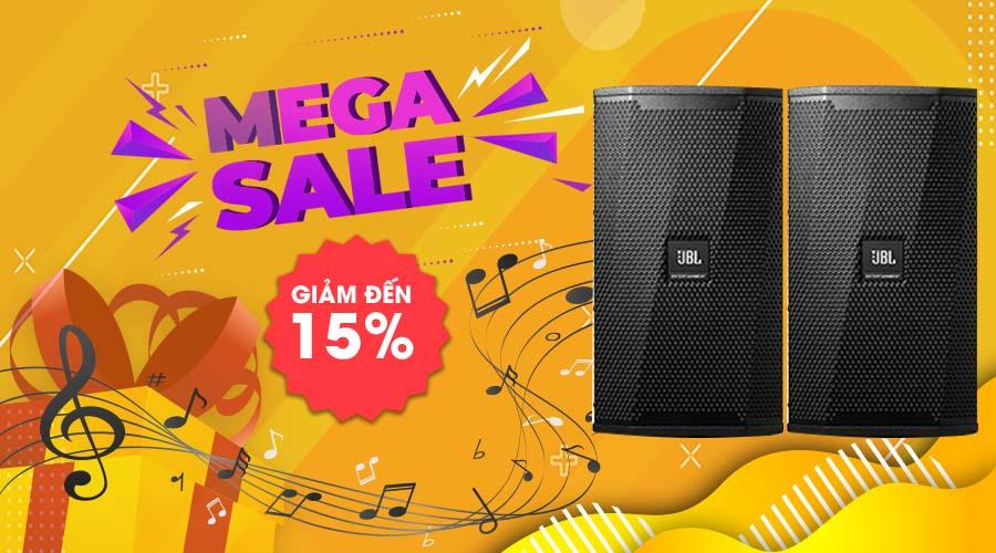 Banner Mega Sale giảm tới 15% tại Max Sound
