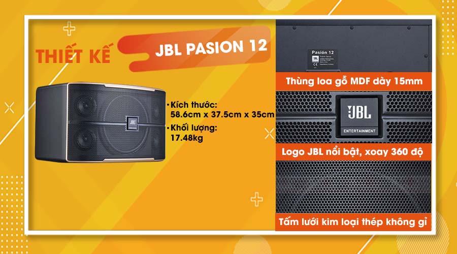 Thiết kế của loa JBL Pasion 12